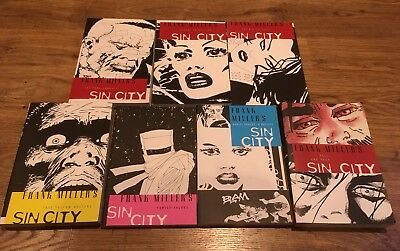 Sin City.1-7 Complete collection. Frank Miller. Graphic Novels. Books.