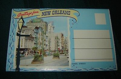 "Vintage Souvenir Postcard Folder ""greetings From New Orleans"""