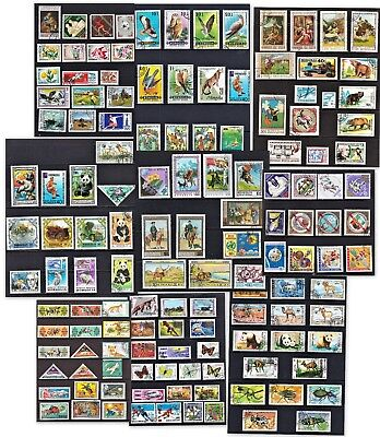 100+ Unsorted stamps of Mongolia. Good to fine all different used. 9 pages.