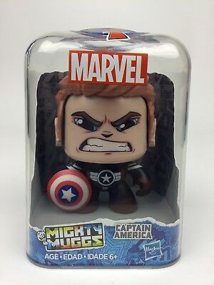 Marvel Mighty Muggs Captain America Action Figure by Hasbro New & Free Shipping