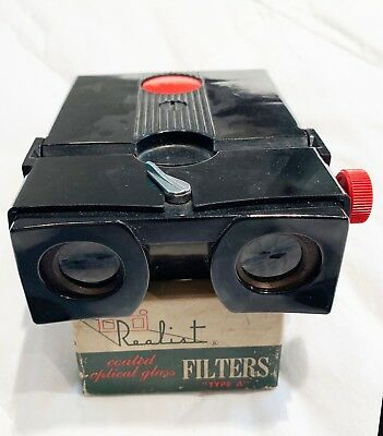 Vintage Stereo Realist Red Button 3D/Stereoscopic Slide Viewer