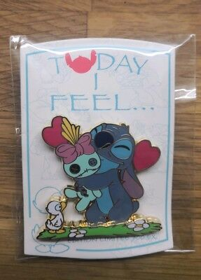 Pin's Stitch Today I Feel Câlin - Disneyland Paris - LE 700