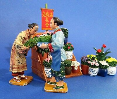 Chinese Street Vendor Flower Stall by King & Country