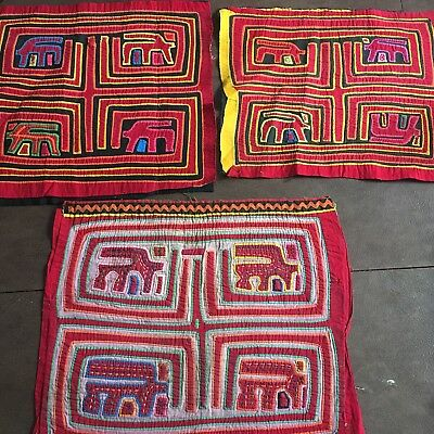Mola Kuna Indian San Blas Islands 3 Molas One Price. Vintage