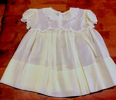 Vintage antique hand made baby girl dress, very delicate with lace
