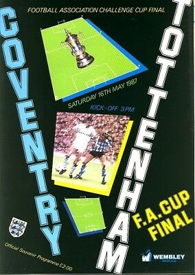 FA CUP FINAL PROGRAMME 1987: Coventry v Spurs