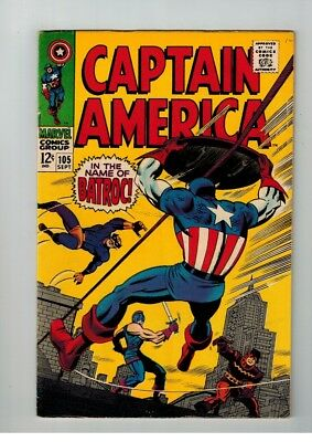 Captain America #105 Sept 1968 Stan Lee Jack Kirby In The Name Of Batroc