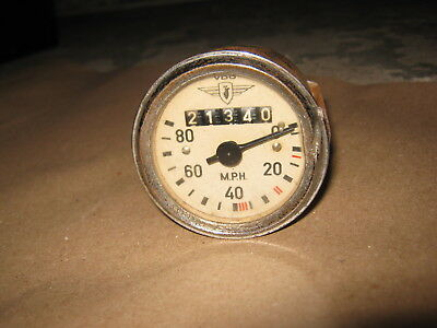 A Vintage Vdo 80 Mph Speedometer For Your Classic Scooter With Milometer