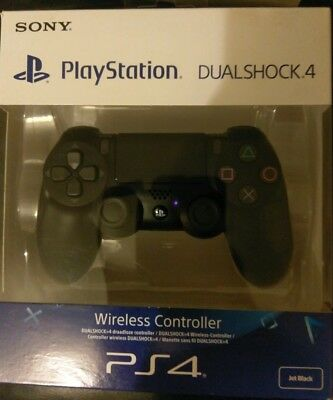 ps4 playstation dualshock 4 wireless controller black brand new in box