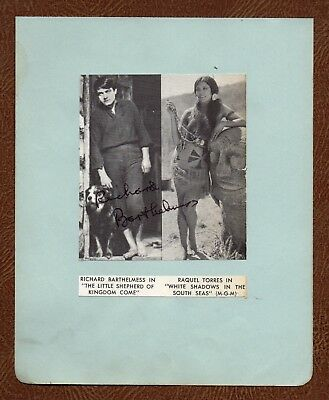 """RICHARD BARTHELMESS Silent MOVIE STAR """"Little Shepard..."""" HAND SIGNED PIC PAGE"""