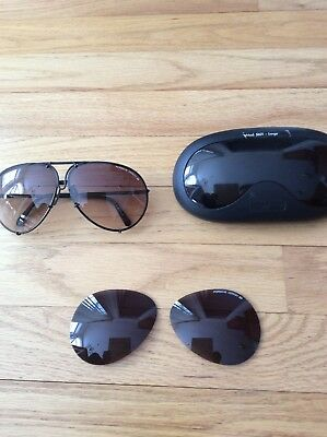 46440b47498 PORSCHE DESIGN CARRERA vintage black green 5629 sunglasses aviator ...