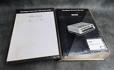 A Selection Of Engineers Vhs Service Manuals In Folder 8930-42 + Others