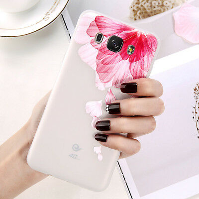 For Samsung Galaxy J5 J7 2017 A5 A3 Ultra-Thin Flowers Pattern Back Case Cover
