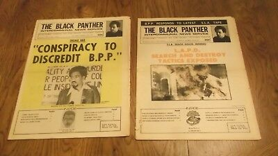 Lot of 2 Black Panther Party Newspapers ~ Vol. XI  #19 & #25   May/June 1974