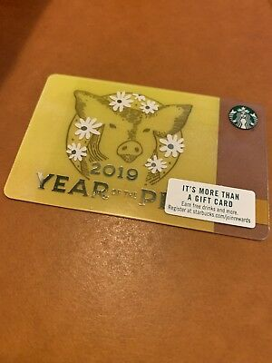 Starbucks Gift Card - Year Of The Pig 2019