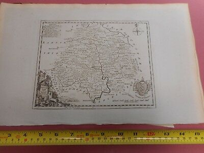 100% Original Herefordshire Map By T Kitchin  C1786 Vgc Low Start