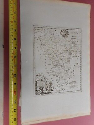 100% Original Derbyshire  Map By T Kitchin  C1786 Vgc Low Start