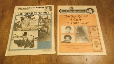 Lot of 2 1980 Black Panther Party Newspapers ~ Vol. XX #'s 1 & 8  Nice!