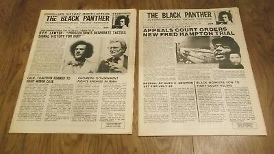 Lot of 2 Black Panther Party Newspapers ~ Vol. XIX #2 & 6 Feb/March 1979 Nice!