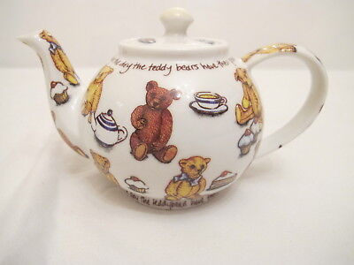 "Ted-Tea by PAUL CARDEW TEAPOT ""Today's the day the teddy bears have their picnic"