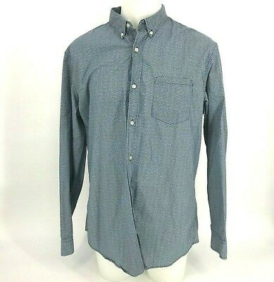 New Banana Republic Shirt Long Sleeve Button Down Grant Slim Striped Granite NWT