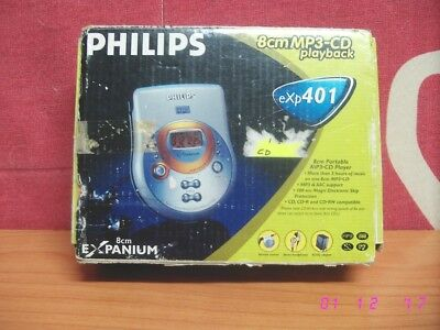 Discman PHILIPS EXP401 reproductor MP3 8 cm Portable Mini CD Player con su caja.