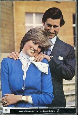 Prince Charles & Lady Diana - Colourslides by Woodmansterne of Royal Engagement