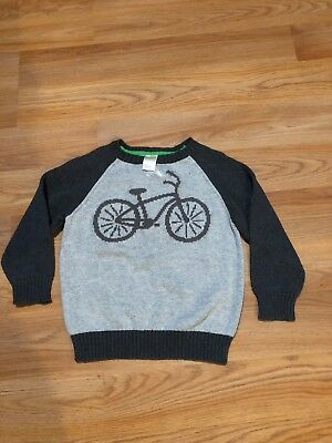 Gymboree Boys 3T Gray Bicycle Sweater