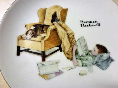 The Student Circa 1970 Norman Rockwell Collectors Plate