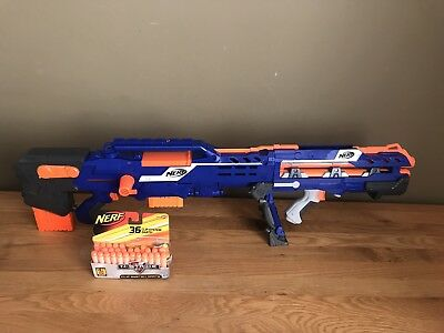 NERF N-Strike LONGSHOT CS-6 Dart Blaster with Some Ammo **WD19