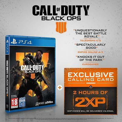 Call of Duty Black Ops 4 PS4 w 2 x Hours DOUBLE XP - 2XP - Black Ops IIII PS4