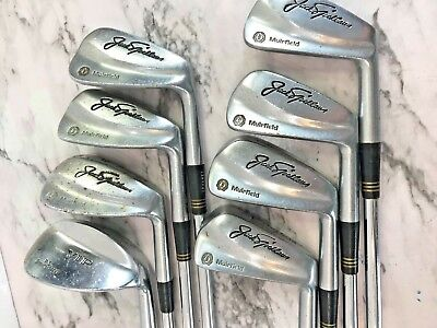 Vintage⛳ Macgragor Jack Nicklaus Muirfield 8 Club Iron Set Steel Rh R Flex #6637