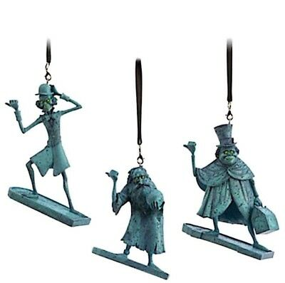 Disney Park Haunted Mansion Hitchhiking Ghosts Ornament Set Gus Ezra Phineas New