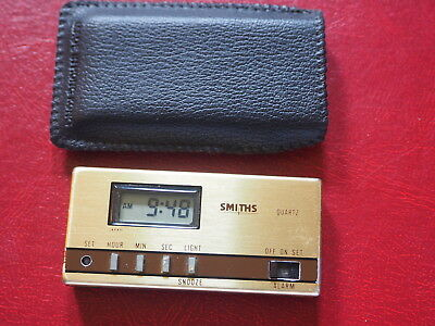 Very Rare Smiths Pocket Lcd Alarm Clock Travelling: With Original Case. New Batt