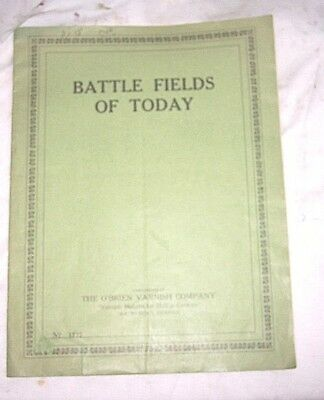 Battle Fields Of Today Maps , World War 1 Rand Mcnally  Copyright 1916