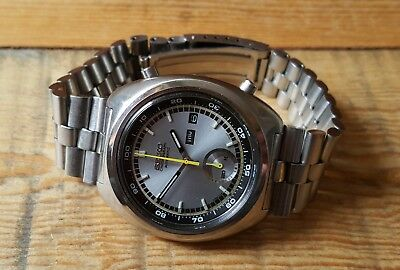 Gent's Stainless Steel Seiko Day Date Chronograph Automatic Ref: 6139-7002
