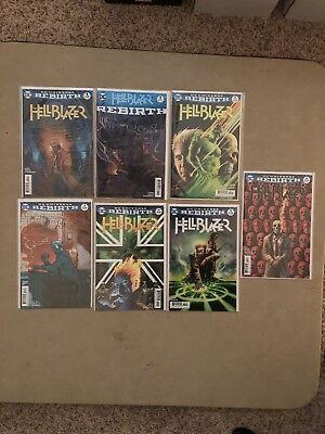 Lot Of 7; Hellblazer (2016 series) #1 X2B,3A,4A,5A,6A; DC; As Seen In Pics