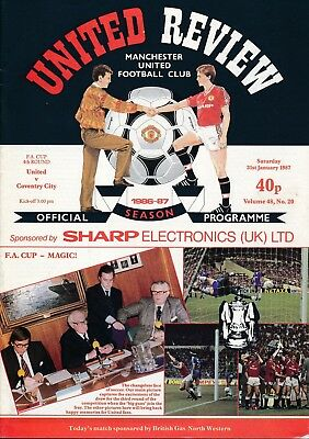 MANCHESTER UNITED v Coventry (FA Cup) 1987 - City cup winning year!
