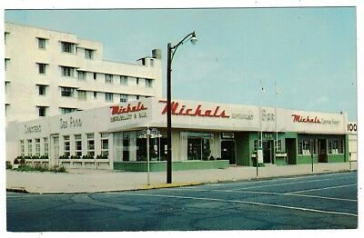 Vintage 1950's Michals Resort Restaurant Asbury Park New Jersey Postcard