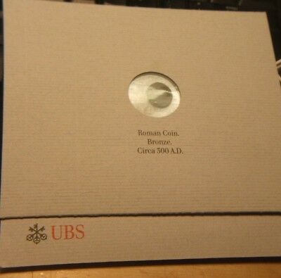 Roman Bronze Coin ~~ Circa 300 A.d. ~~ Over 1700 Years Old ~~ Ubs Packaging