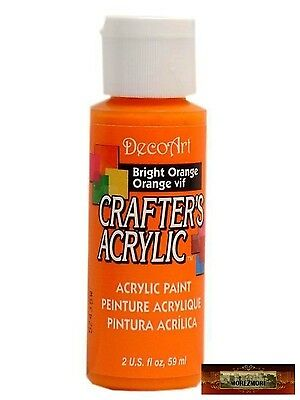 M01416 MOREZMORE DecoArt BRIGHT ORANGE Crafter's Acrylic All Purpose Paint A60
