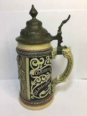 Vintage Beer Stein Jedergernsein Alteiney Inscription
