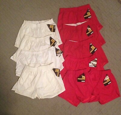 Lot of (10) Pairs of Vintage Dodger Brief and Pocket Style Jogging Shorts