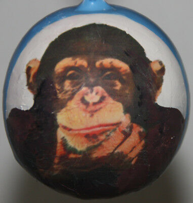 gourd Mother's Day gift, yard art or Christmas ornament with chimp