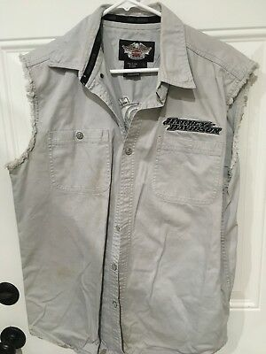 Harley Davidson, Sleeveless, S-Large, Gray, Pre-Owned