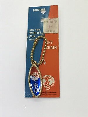 New York World's Fair 1964-1965 Key Chain by Unisphere United States Steel