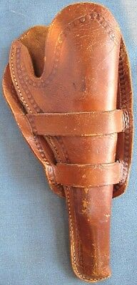 """c.1900 holster for Colt's 7 1/2"""" SAA revolver from """"Geo Fritch Hdw'e Co, Denver"""""""