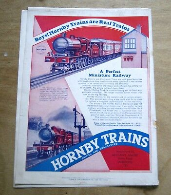 Hornby Trains vintage advert 1934 from Meccano magazine