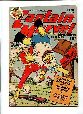 Captain Marvel #107 F/VF 7.0 HIGH GRADE Fawcett Whiz Golden Age 10c Comic
