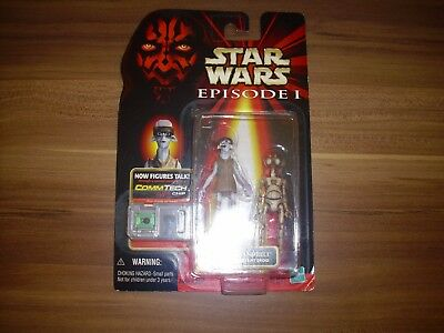 Star Wars Figur - Ody Mandrell + OTOGA 222 Pit Droid - Episode 1 - CommTech Chip